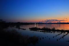 水郷の夜明け