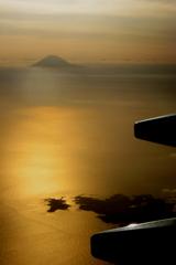 機窓からの夕景