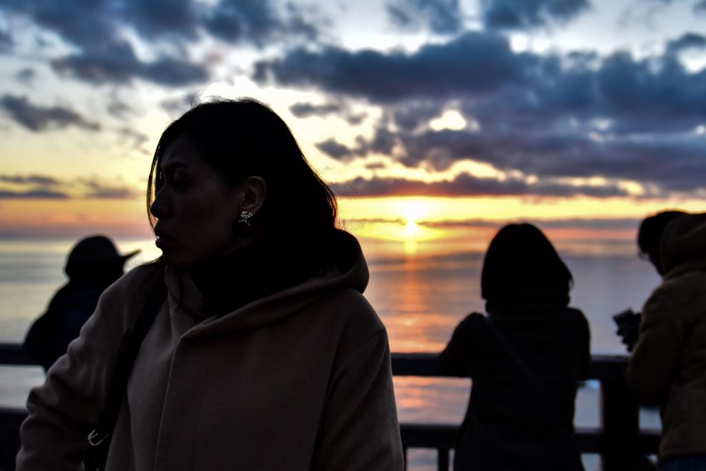 夕陽よりも美しい人
