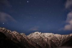 穂高岳の星空