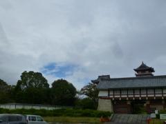まだ晴れぬ 台風過ぎし 一瞬の青