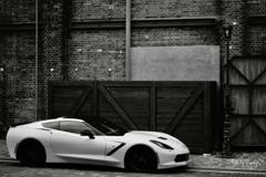 Brick and corvette
