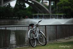 銀の自転車