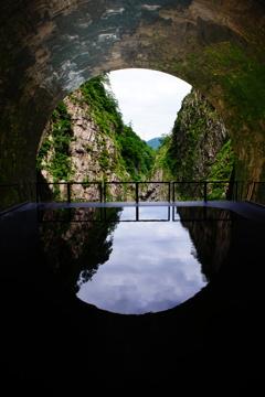 清津峡 水鏡