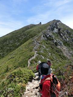 金峰山山頂まであと少し
