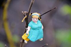 枯れた芙蓉に・・・渡辺直美 人形1