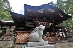 岡崎神社 狛犬 狛兎