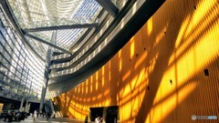建造物と自然光の造形美