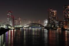 竹芝桟橋より勝鬨橋方面を望む