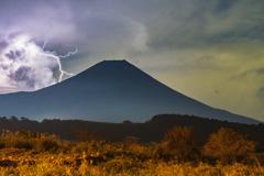 Mount Fuji lightning