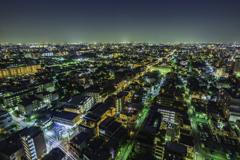 練馬区役所からの夜景2