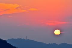 鳴滝山夕陽1