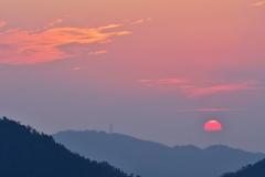 鳴滝山夕陽2