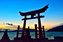 岩子島、厳島神社