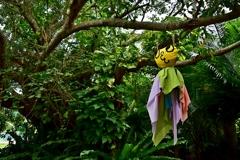 森の中のてるてる坊主
