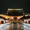 雨上がりの浅草寺本堂