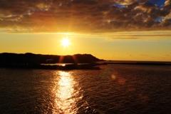 夕陽を 追いかけて