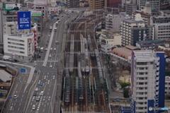 中津駅 3線同時進行