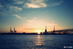鶴浜緑地の夕景