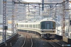 福島駅にて221系