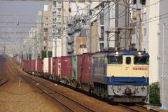 さくら夙川駅にてEF65