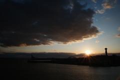 此花大橋からの夕景
