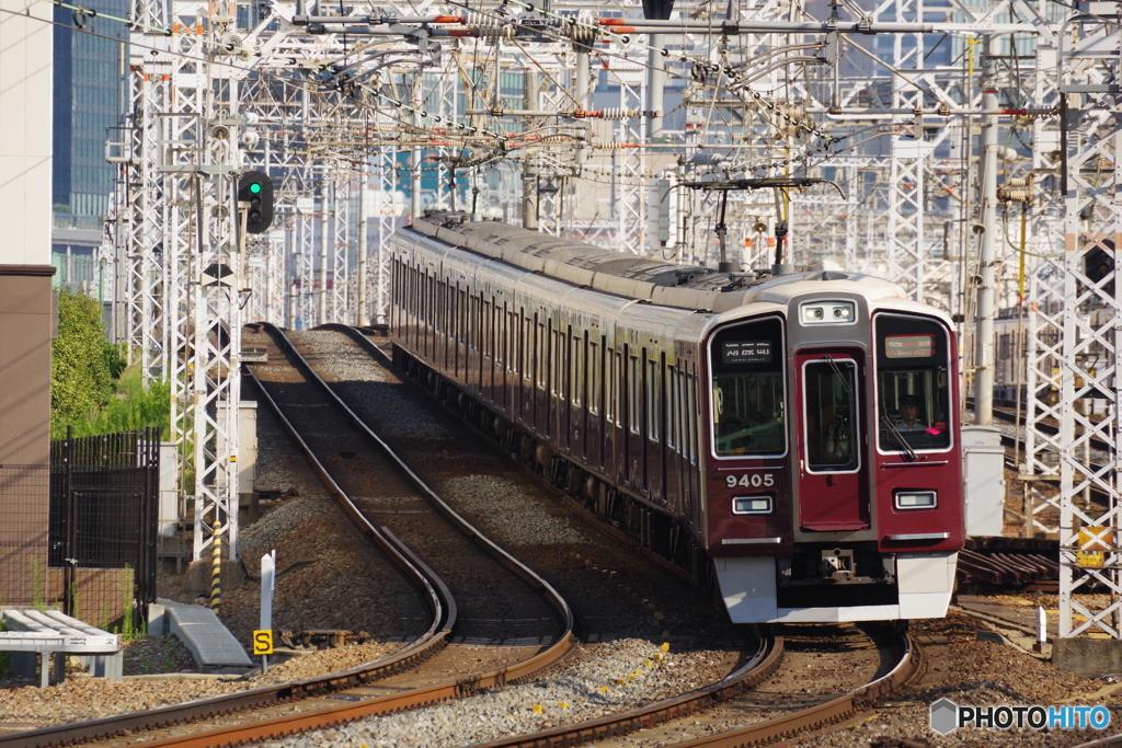 十三駅にて9300系
