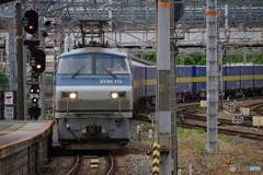 京都駅にてEF66