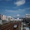 芸備線のサンフレッチェ広島応援ラッピングトレイン