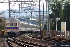 河内長野駅前にて南海6300系