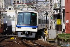 堺東3号踏切にて泉北高速鉄道5000系