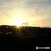 夕日と長野線