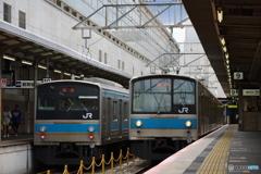京都駅にて205系