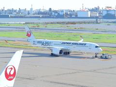 絵画風(日本航空 A350-941 JA02XJ)