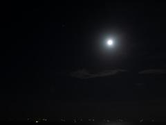 東京湾を照らすお月様