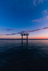 日本の夕陽