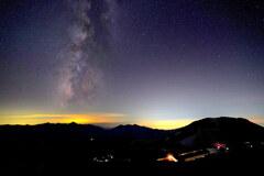 白馬山荘の夜