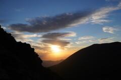 朝日輝く浅間山