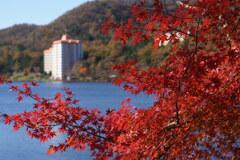 紅葉の榛名湖2