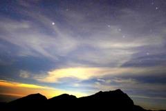 星と雲の奥大日岳