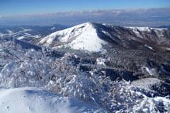 霧氷と根子岳