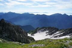 雪渓とパノラマ