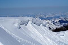 雪の波乗り