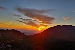 朝焼けに染まる浅間山