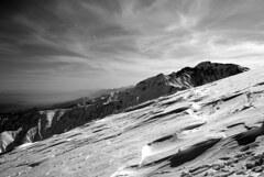 風紋と五竜岳