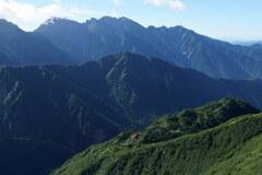 穂高岳と鏡平