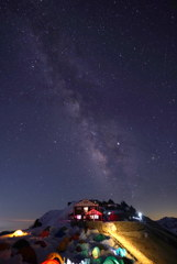星空の燕山荘