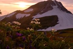 白馬岳の夕暮れ
