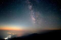 夏空の銀河