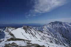 厳冬の唐松岳展望